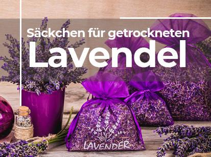 Säckchen für getrockneten Lavendel