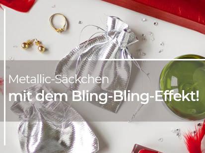 Metallic-Säckchen mit dem Bling-Bling-Effekt!