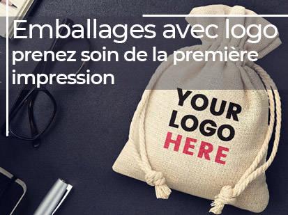 Emballages avec logo- prenez soin de la première impression