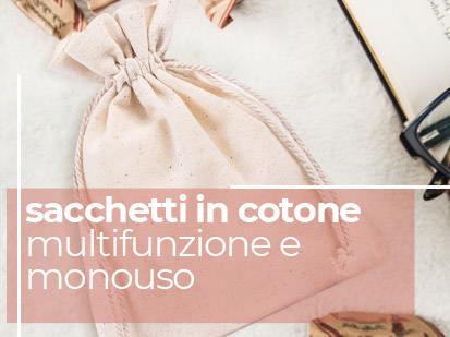 WIELO sacchetti in cotone