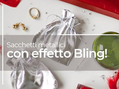 Sacchetti metallici con effetto Bling!